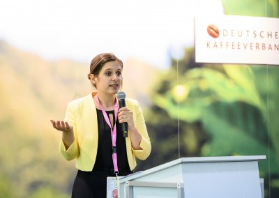 Englische Moderation beim International Coffee Congress on Sustainability