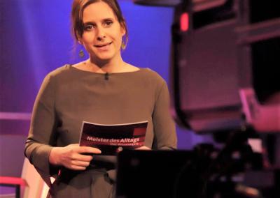 """Gast und Moderation der Fernseh-Quizshow """"Meister des Alltags"""" im Rahmen der Fortbildung am IMO"""
